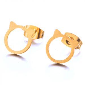 Boucles d'oreilles chat Cute gold