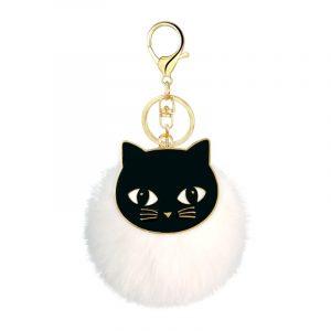Porte clé chat noir